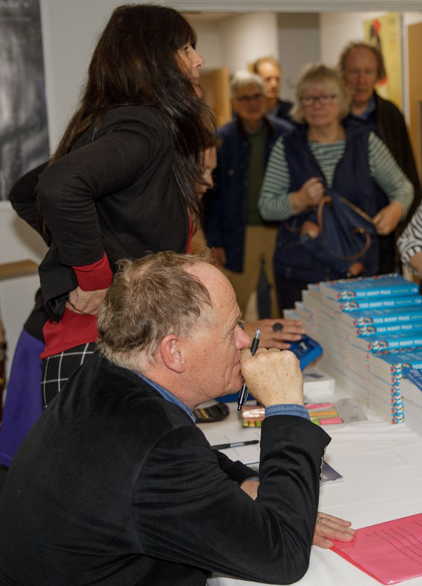 James Le Fanu signing