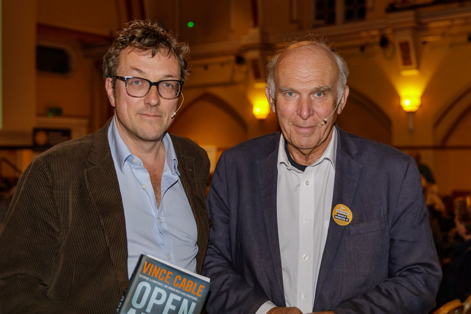 Sir Vince Cable and Jason Goodwin